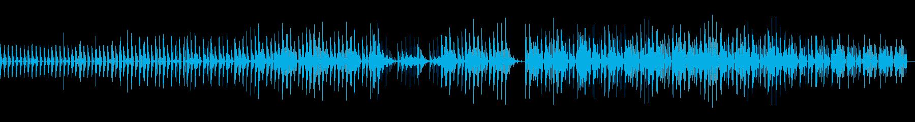 近未来的でクールなダンサブルな曲の再生済みの波形