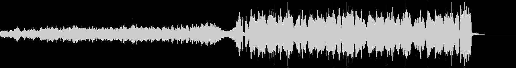テンポの速い変則ビートの未再生の波形