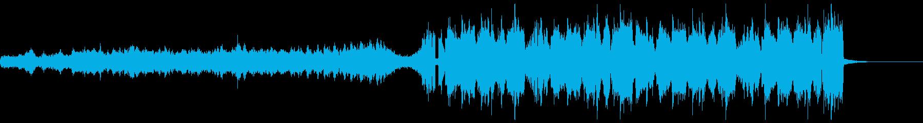 テンポの速い変則ビートの再生済みの波形