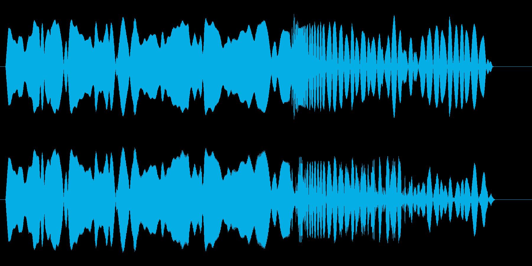 ヒュルルバシューン(落下)の再生済みの波形