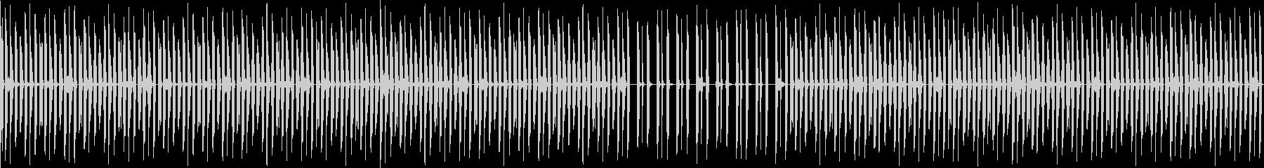 削ぎ落とされミニマルなスローダウンビートの未再生の波形