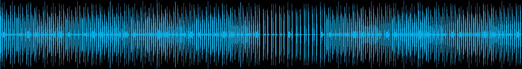 削ぎ落とされミニマルなスローダウンビートの再生済みの波形