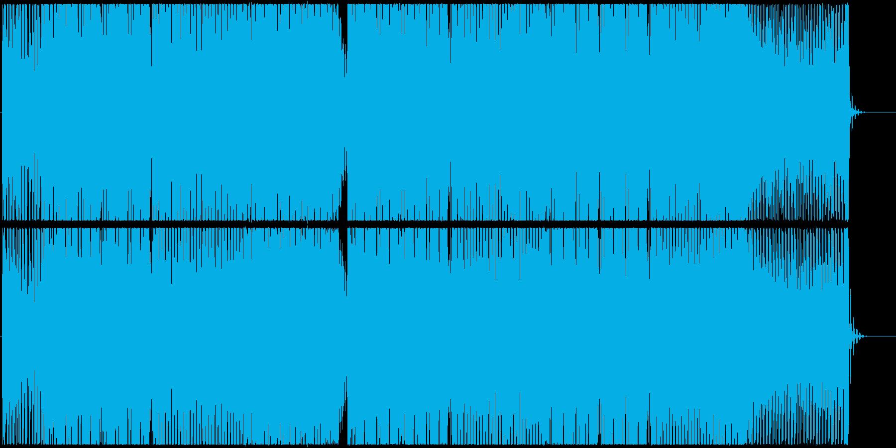 スタイリッシュなシンセベースのエレクトロの再生済みの波形