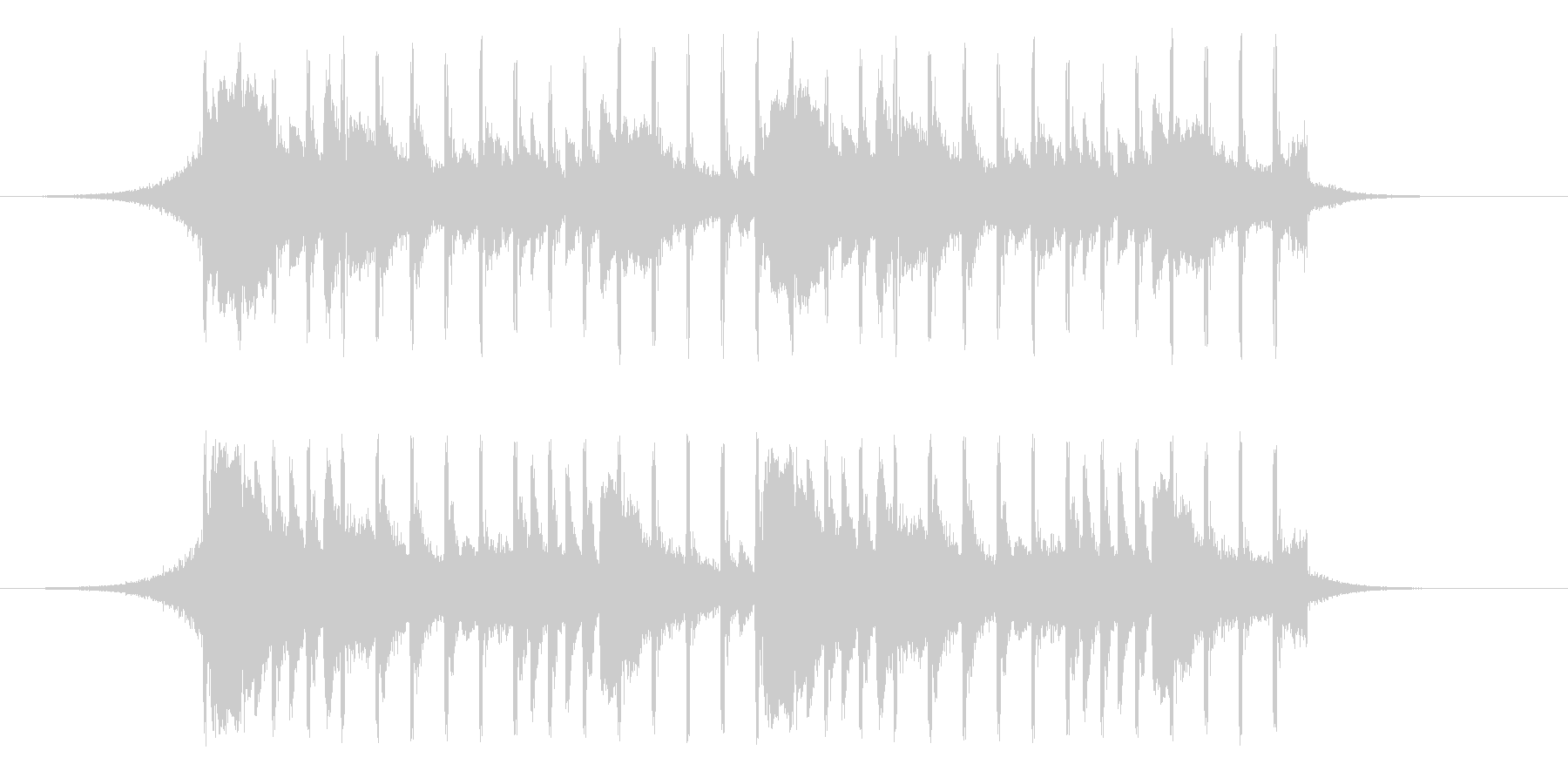 【爽やか】かわいい、軽快なBGMの未再生の波形