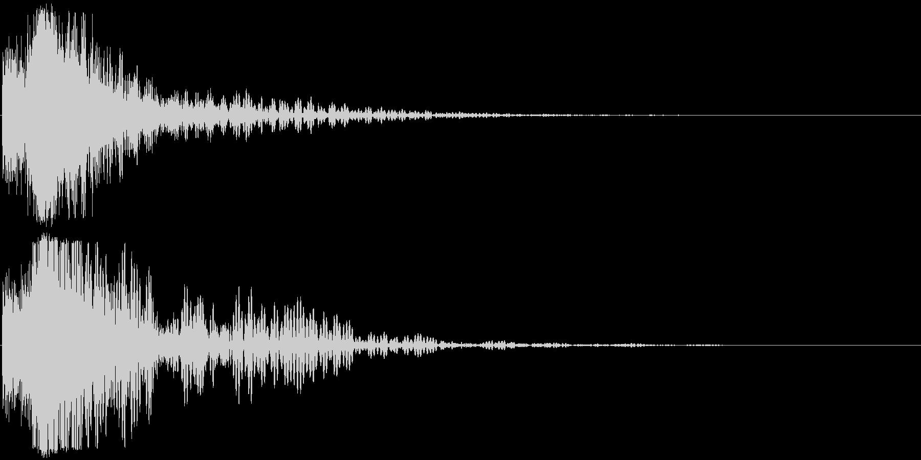 シャキーン(特大剣 ロゴ インパクト)3の未再生の波形