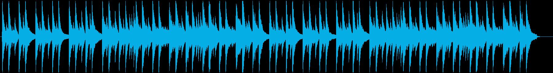 おやすみをイメージしたピアノソロBGMの再生済みの波形