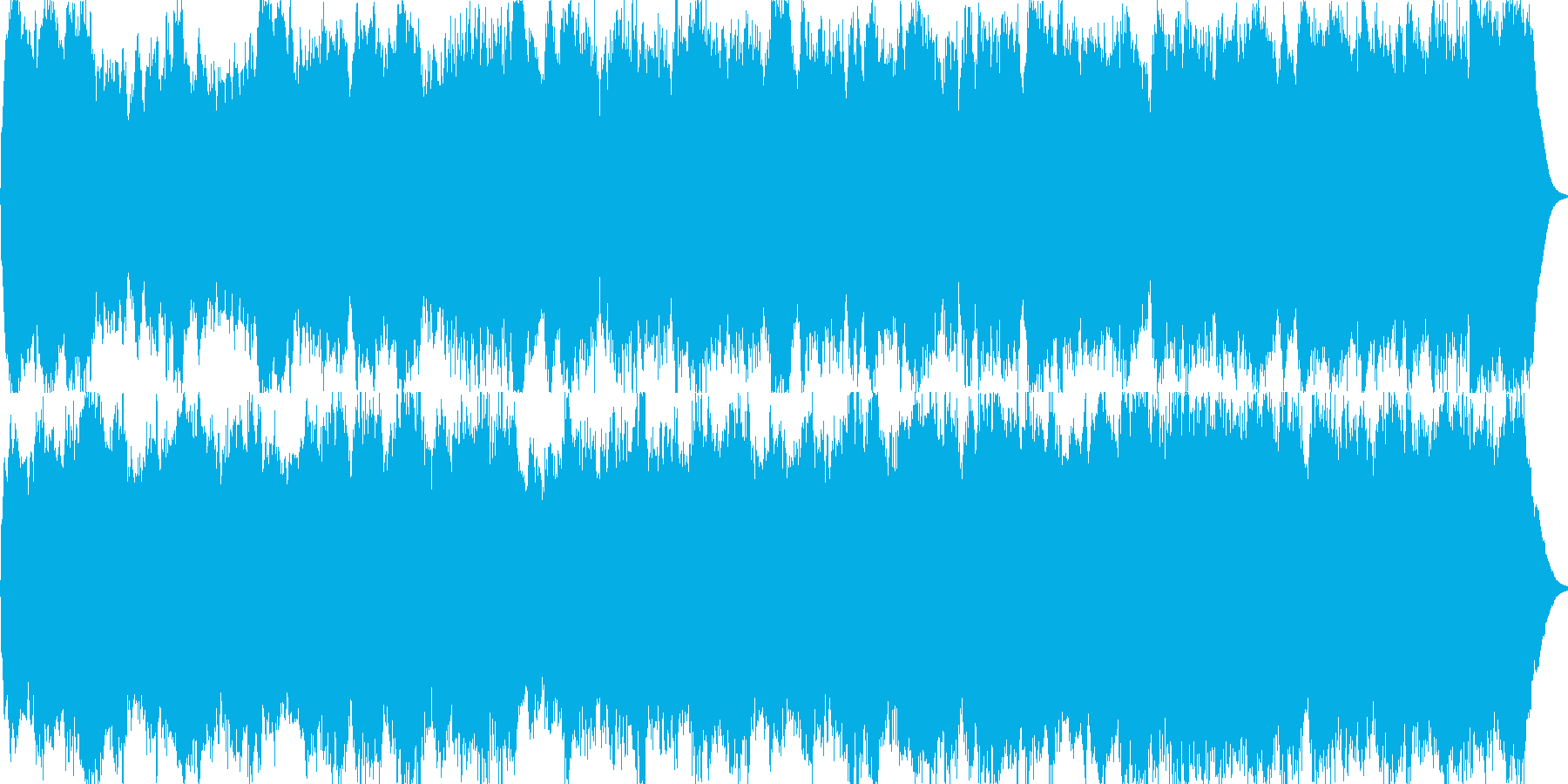 パイプオルガンのオリジナル曲ですの再生済みの波形
