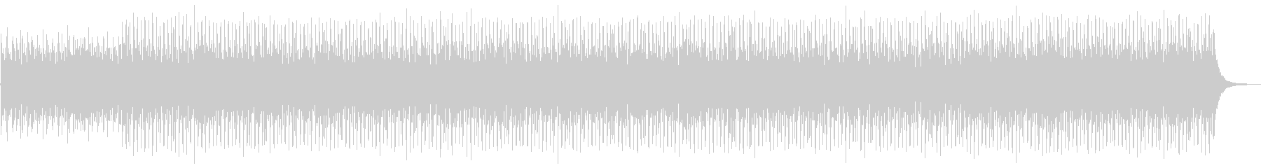 明るく軽快なストリングスと四つ打ちの未再生の波形