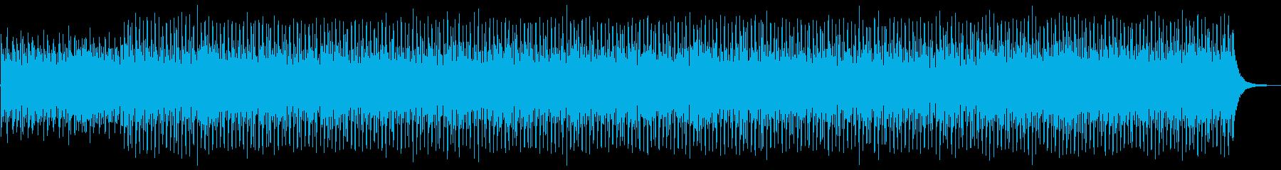 明るく軽快なストリングスと四つ打ちの再生済みの波形