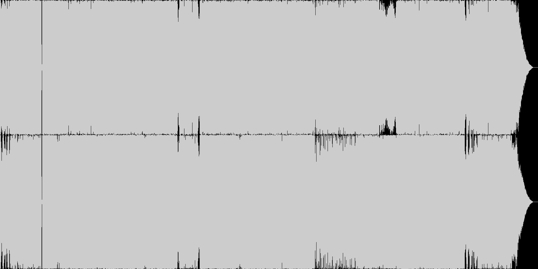空に向かって前向きPOPROCK メロ有の未再生の波形