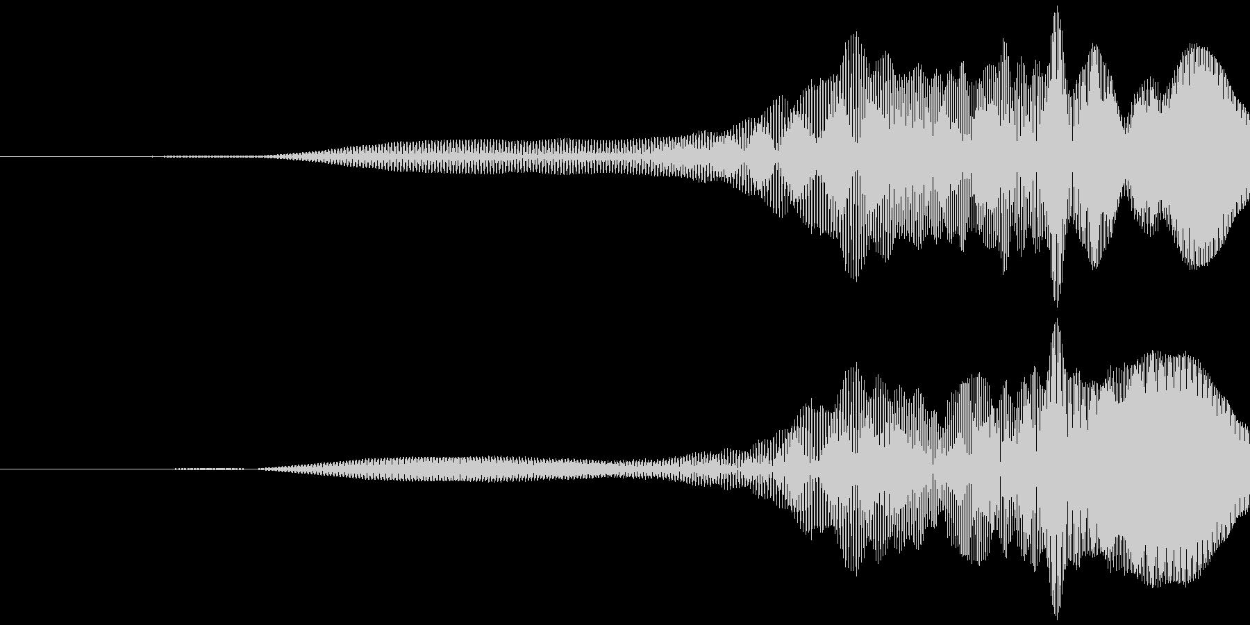 取る風 オノマトペ(上昇)ヒョッの未再生の波形
