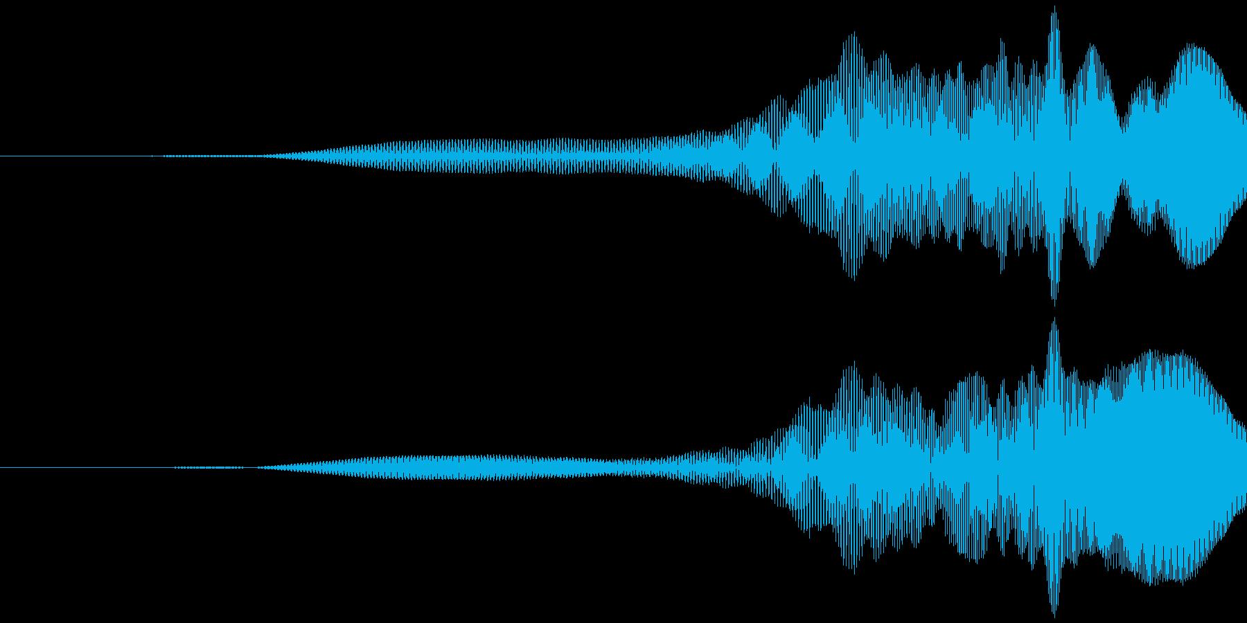 取る風 オノマトペ(上昇)ヒョッの再生済みの波形