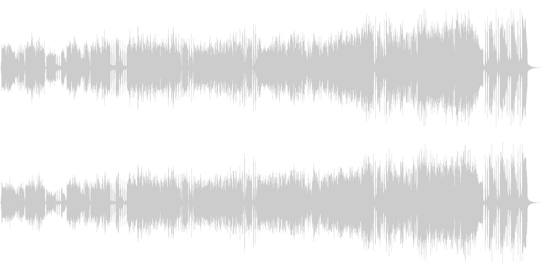 スリリング、サスペンス、ブラス&ピアノの未再生の波形