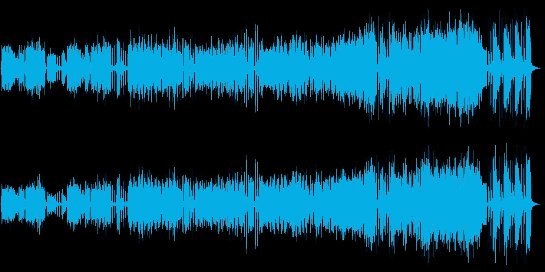 スリリング、サスペンス、ブラス&ピアノの再生済みの波形