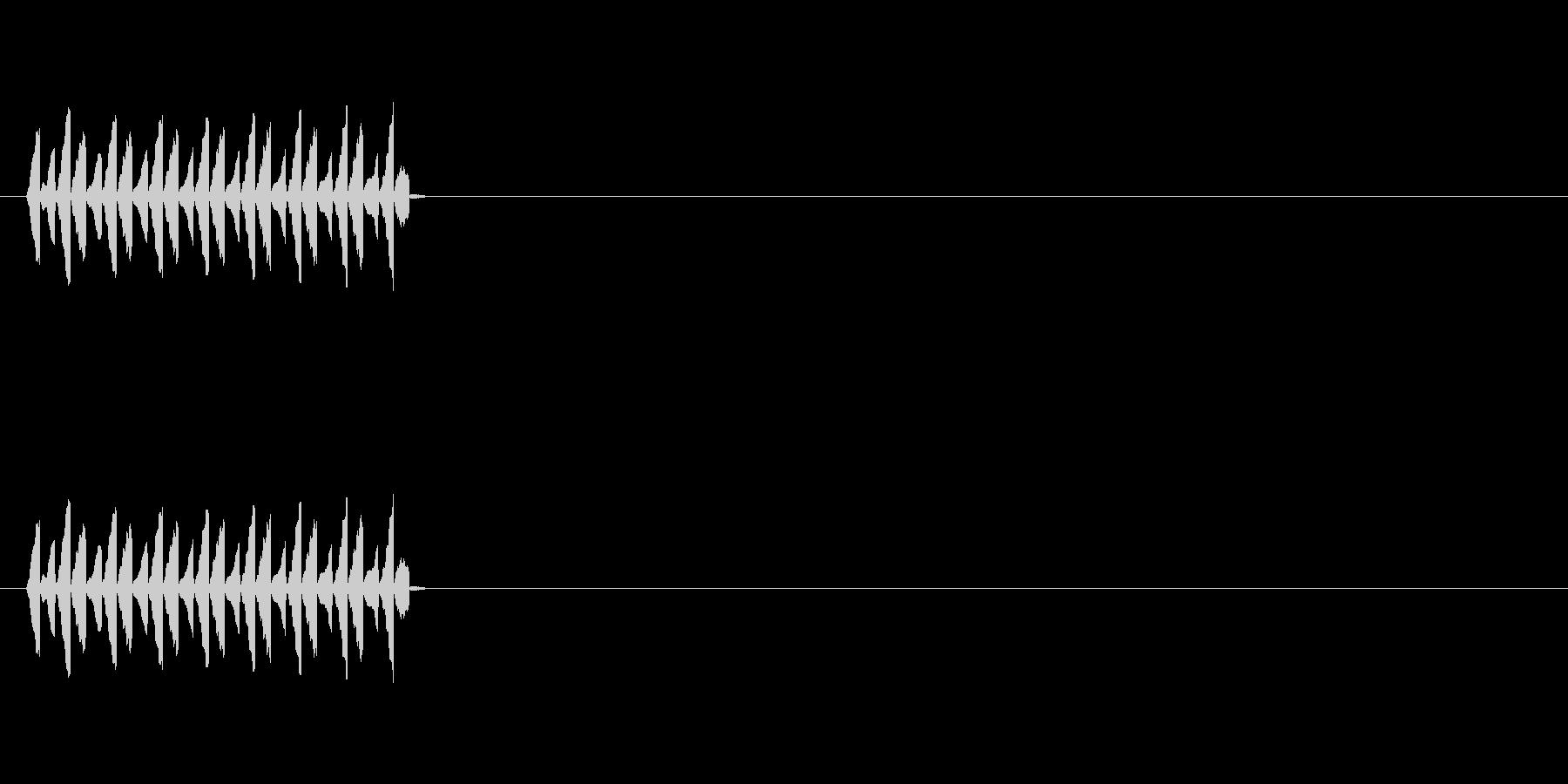 NPC会話音(声が高い)の未再生の波形