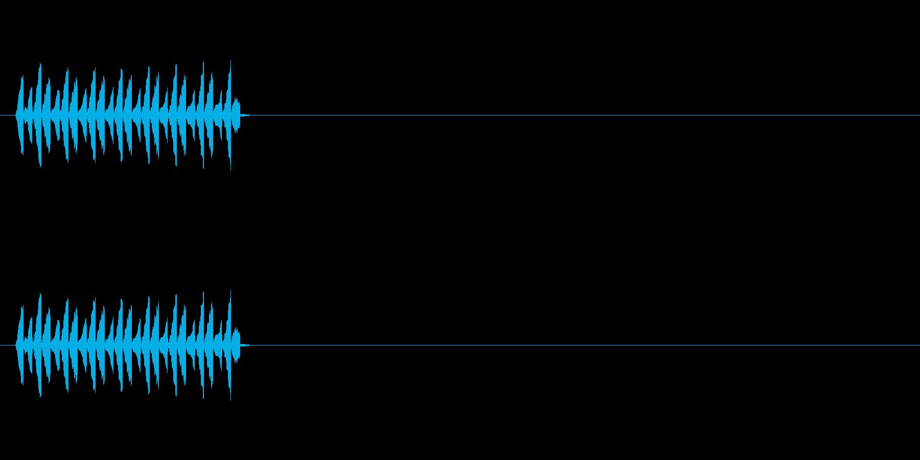 NPC会話音(声が高い)の再生済みの波形