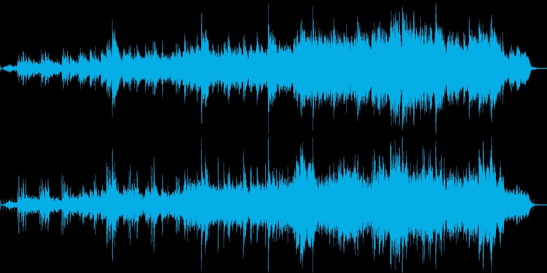 シンプルなピアノによる 幻想的な神聖な曲の再生済みの波形
