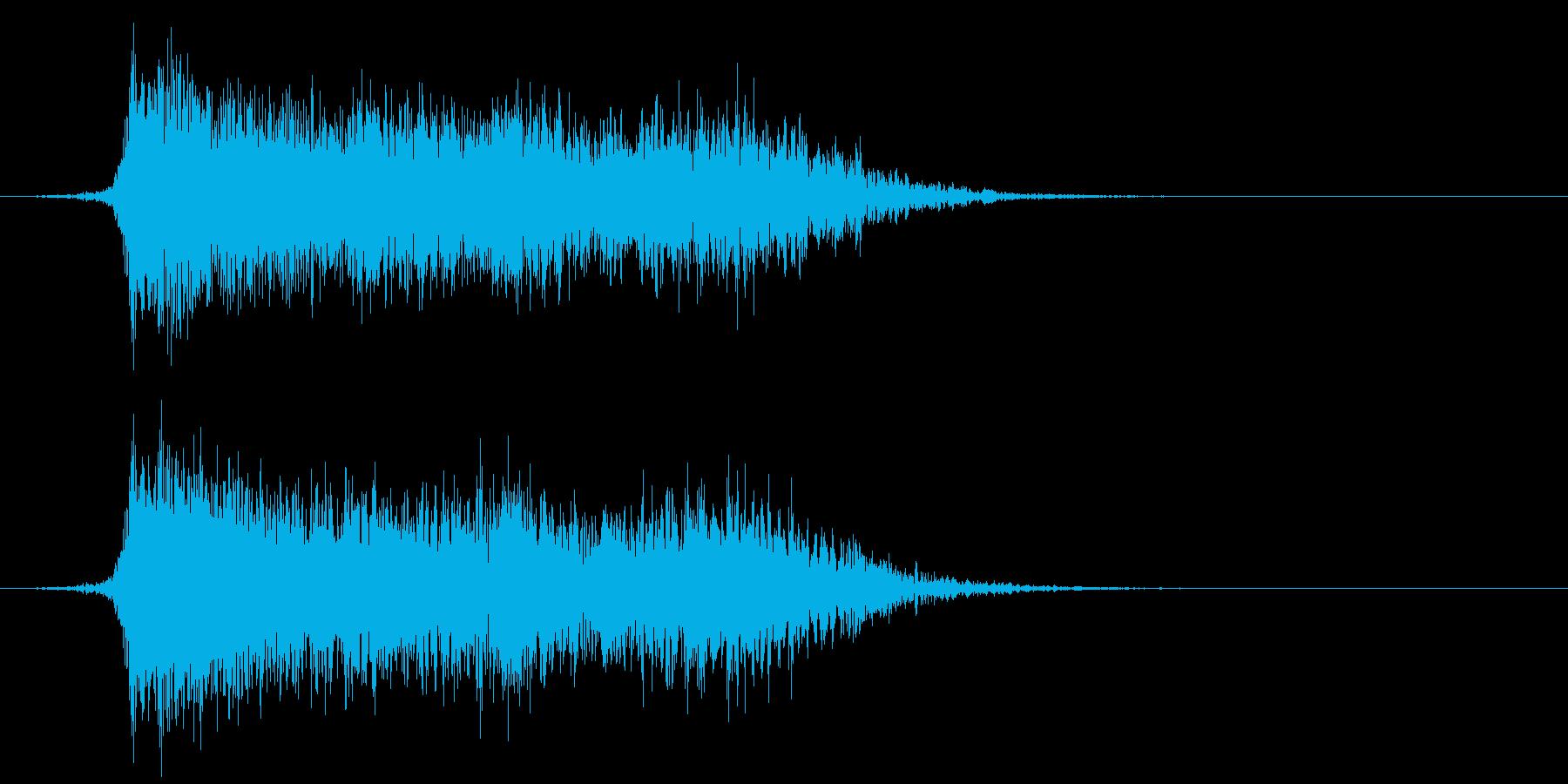 コミカルなダッシュ ジャンプ効果音10cの再生済みの波形