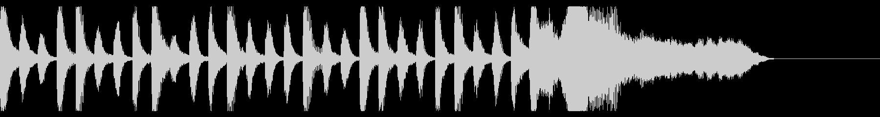 ピアノとバイオリンの愛らしいジングルの未再生の波形
