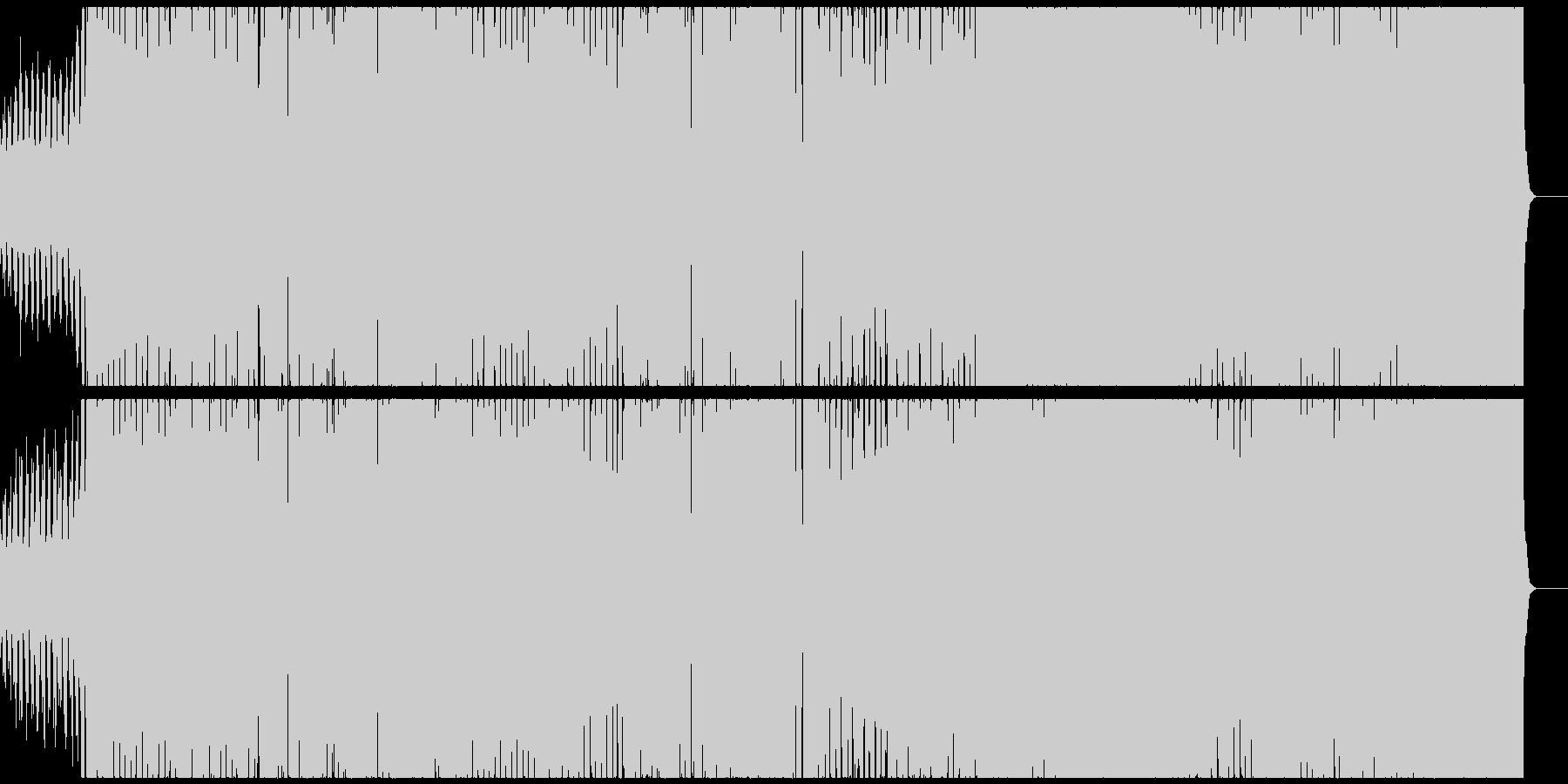 ダイナミックなシンセベースのエレクトロの未再生の波形