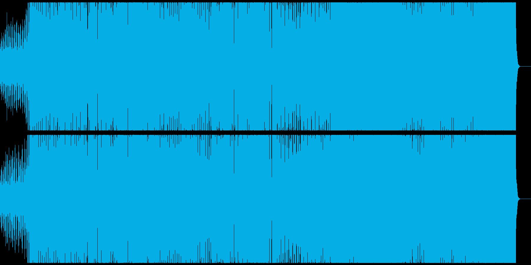 ダイナミックなシンセベースのエレクトロの再生済みの波形