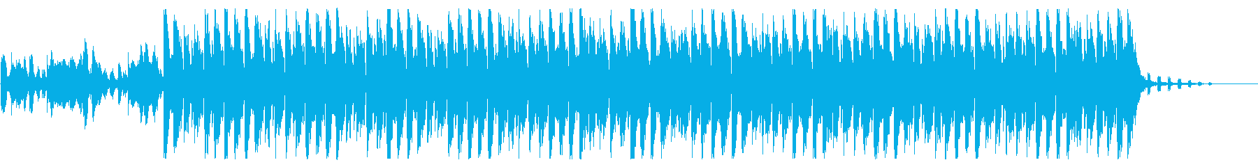 逆風の中、前に進む姿をイメージしたEDMの再生済みの波形
