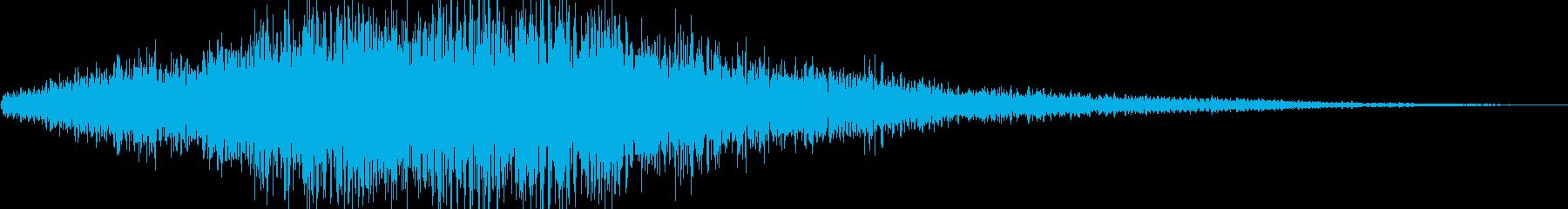 場面転換 空間音 天気予報の再生済みの波形