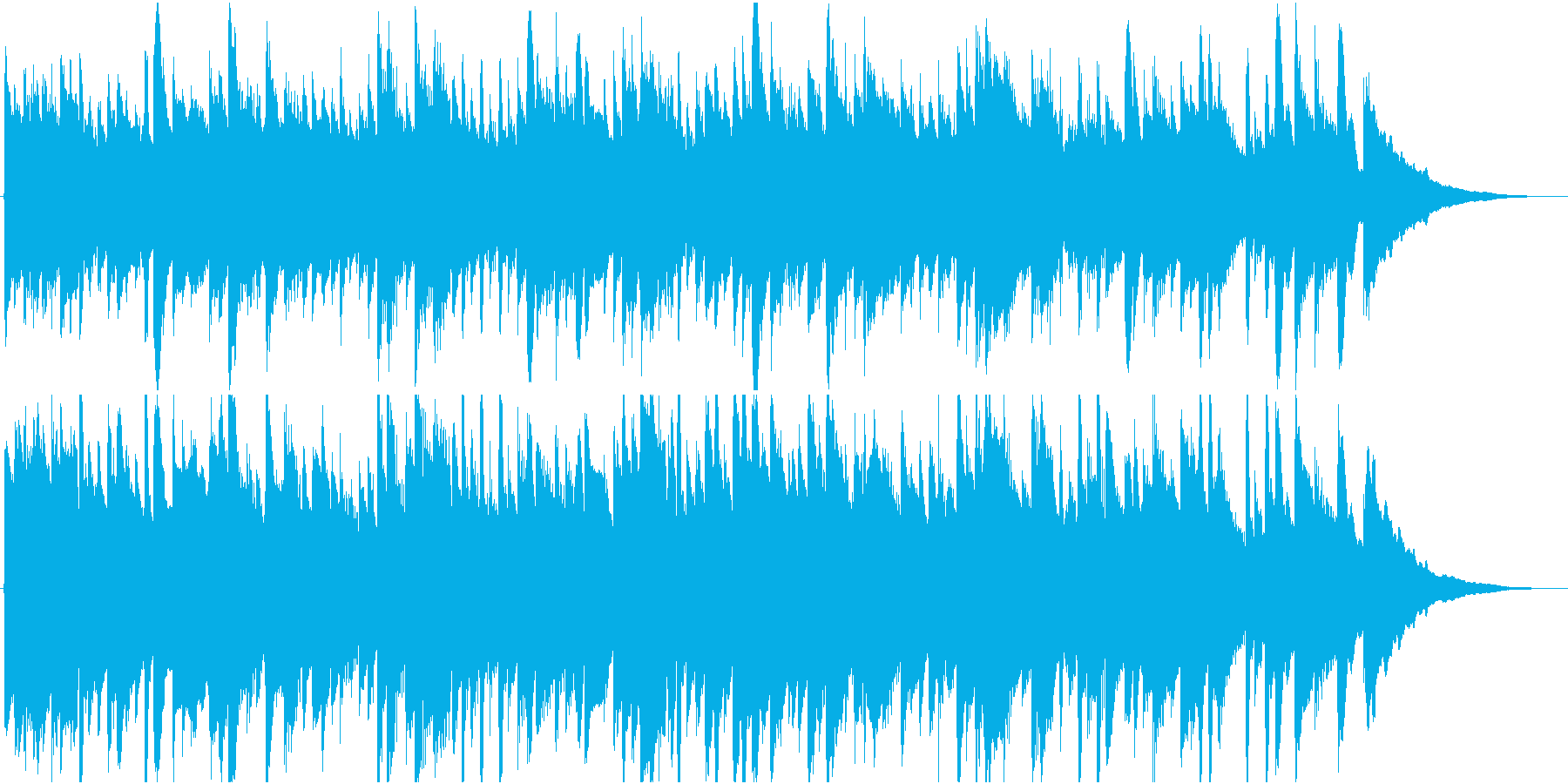 いやし系アコースティックギターのジングルの再生済みの波形