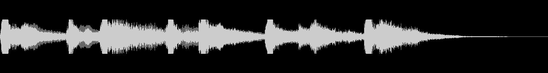 沖縄風ジングルの未再生の波形