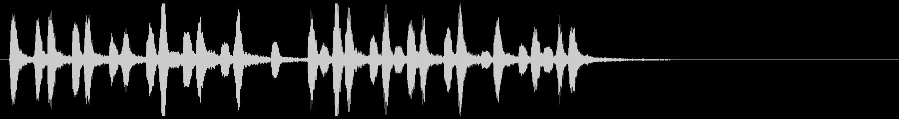 桃太郎ちょい駆け足木管リコーダー重奏の未再生の波形