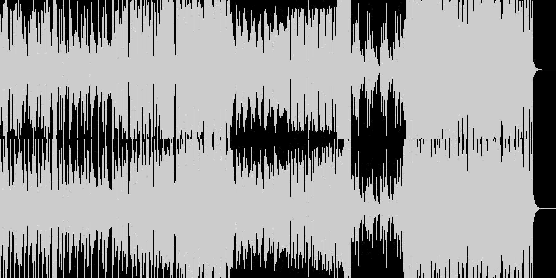 華やかなジャズミュージックの未再生の波形