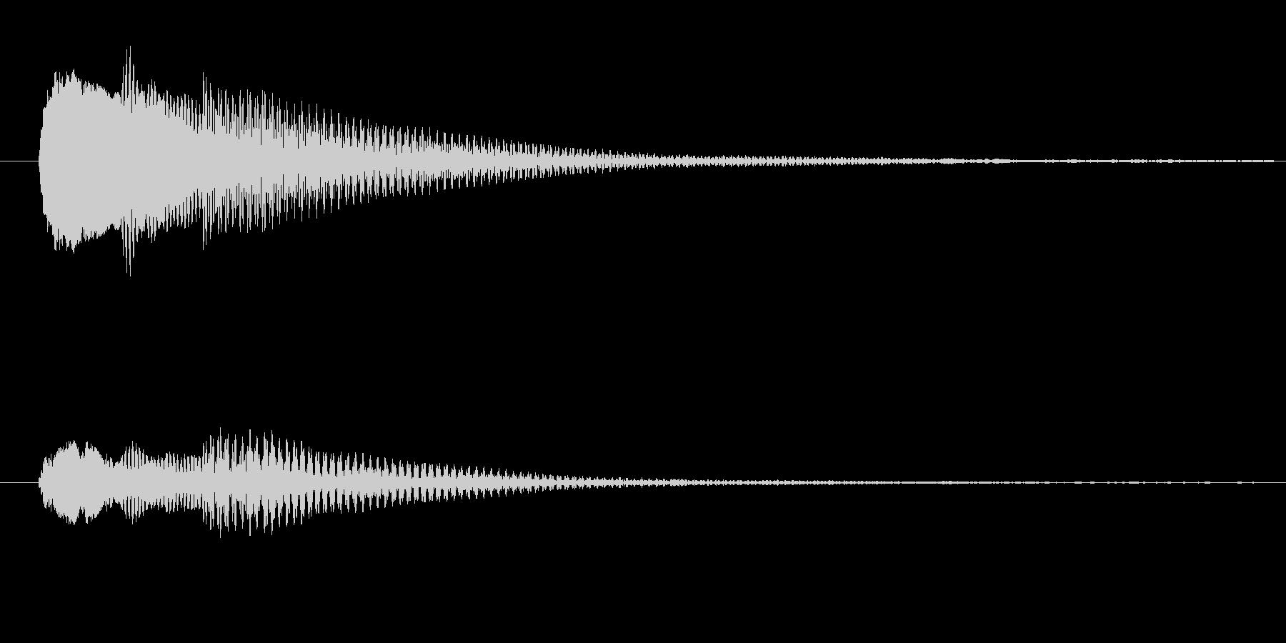 ハテナ?ドファソの未再生の波形