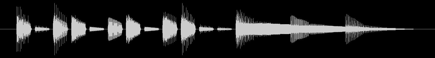 GB風パズル・カードゲームのジングルの未再生の波形