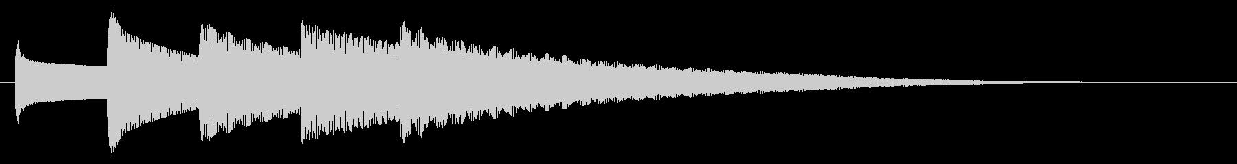 チャイム アナウンス09-5(5点 遅いの未再生の波形