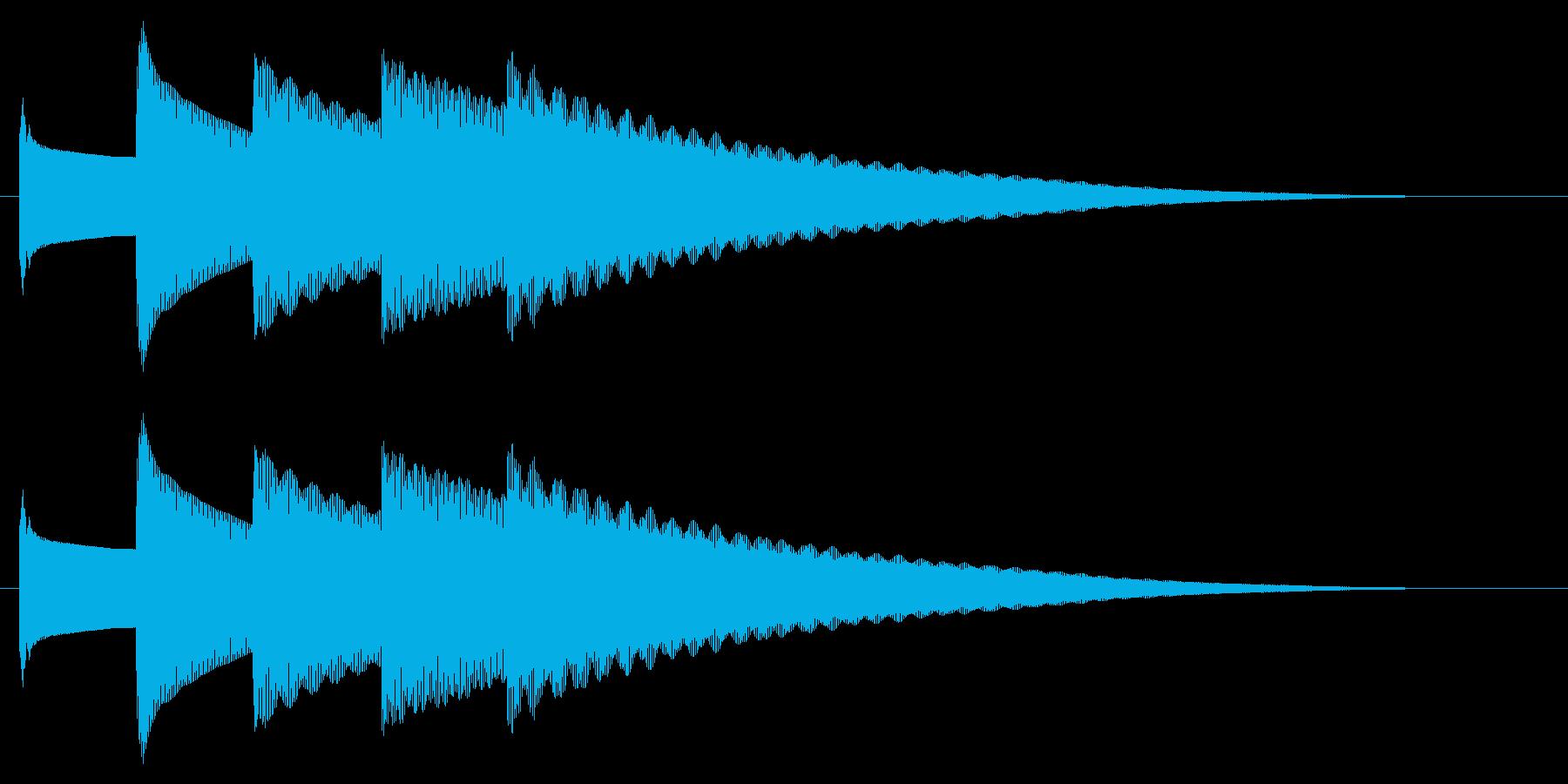 チャイム アナウンス09-5(5点 遅いの再生済みの波形