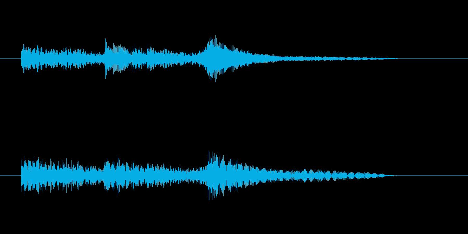 ジャジーなピアノの転換ジングルの再生済みの波形