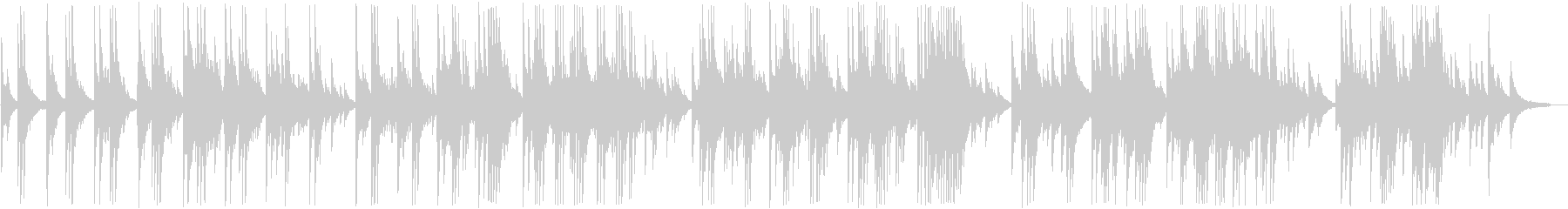 Bright and painful piano ballad's unreproduced waveform