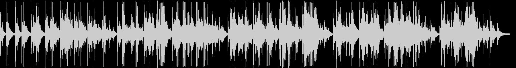 明るく切ないピアノバラードの未再生の波形