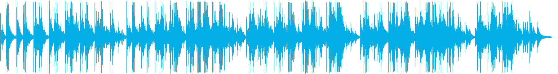 Bright and painful piano ballad's reproduced waveform