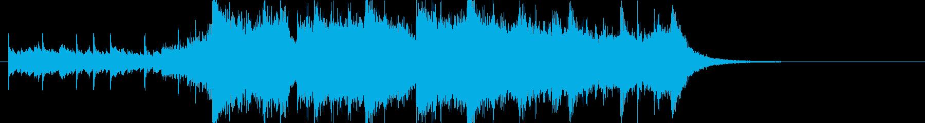 幻想的で壮大なオーケストラOPジングルaの再生済みの波形
