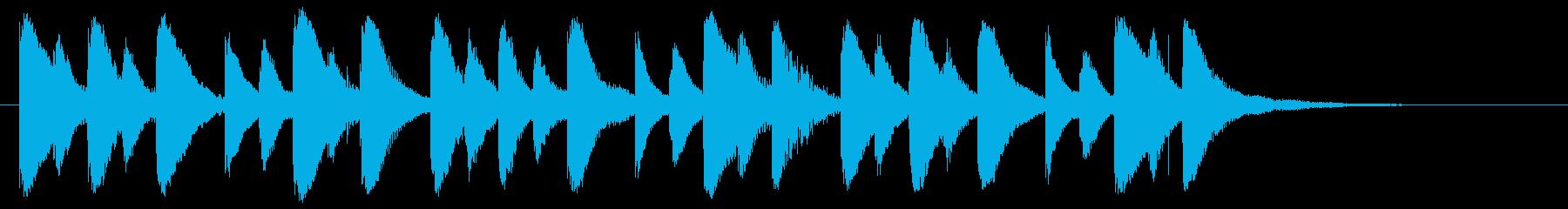 マレット演奏ジングルの再生済みの波形