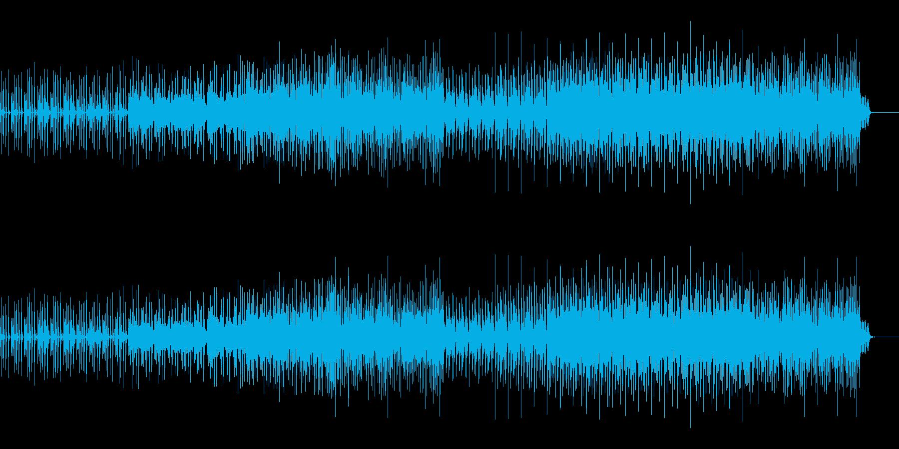 スローテンポバージョンの再生済みの波形