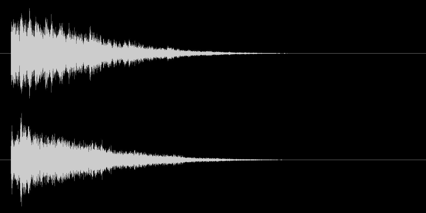 ベル系☆パソコン起動音風ジングル 6の未再生の波形