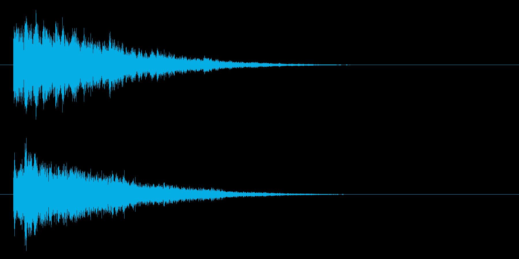 ベル系☆パソコン起動音風ジングル 6の再生済みの波形