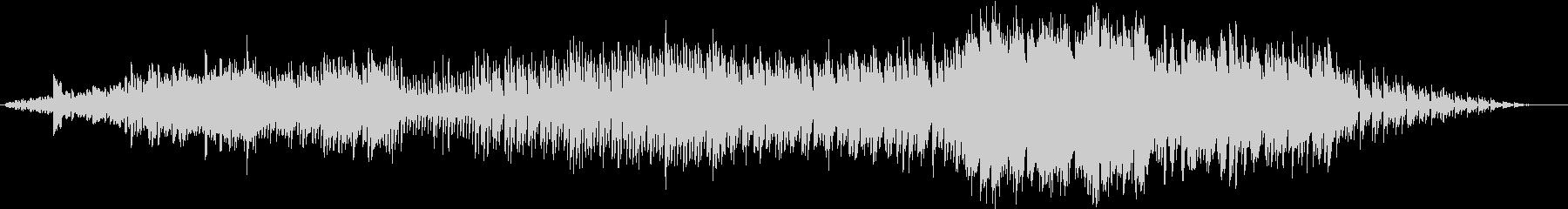 変化するシンセとドラムマシンのジャムの未再生の波形