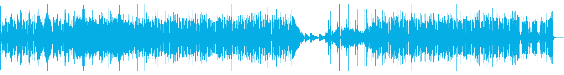 スタイリッシュなポップス(バンド演奏)の再生済みの波形