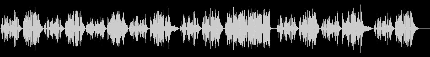 不安な雰囲気のピアノソロクラシックの未再生の波形