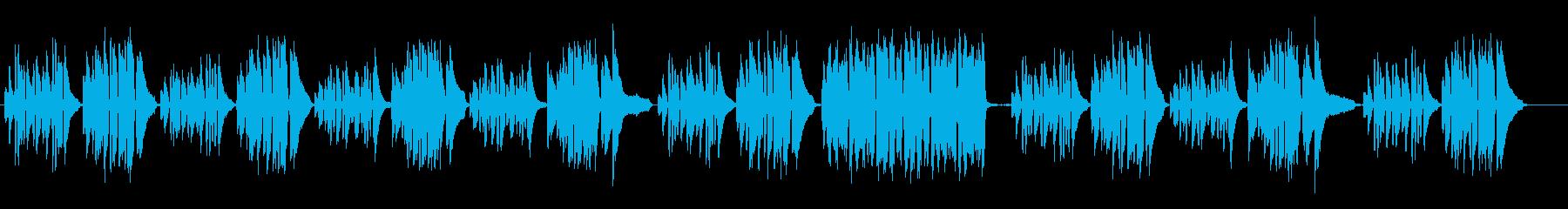 不安な雰囲気のピアノソロクラシックの再生済みの波形
