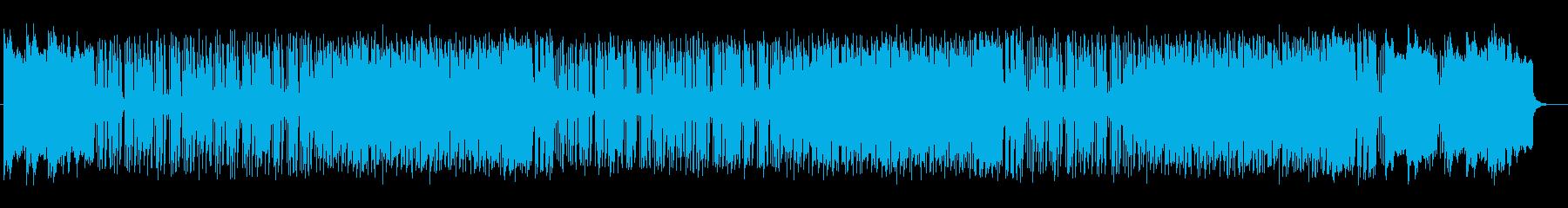 爽やかさを演出できるシンセのポップ曲の再生済みの波形