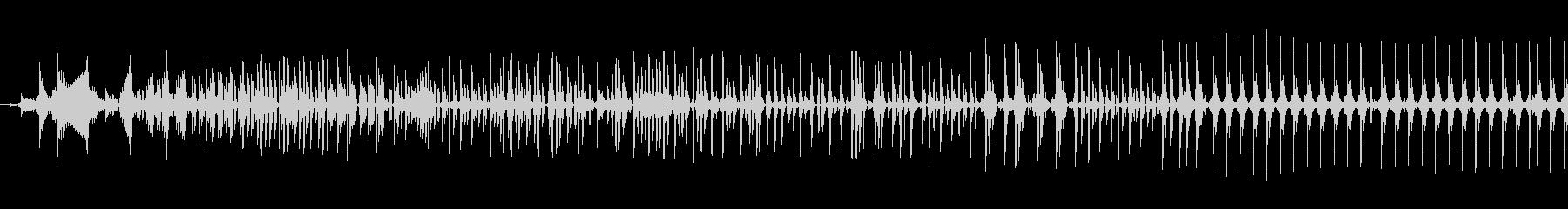 データ通信転送テキストバズの未再生の波形